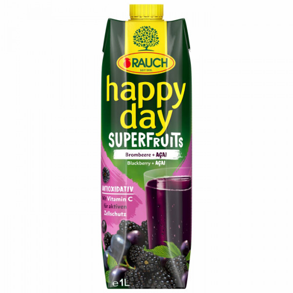 Rauch - Happy Day Brombeere Acai 1L