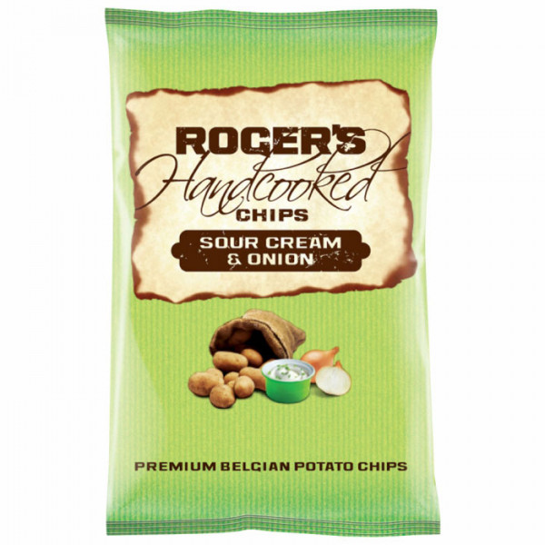 Roger`s Handcooked Chips Sour Cream & Onion 150g